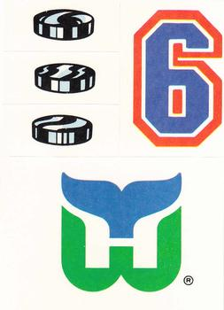1987-88 Topps - Sticker Inserts #25 Hartford Whalers Front