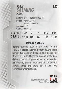 2013-14 In The Game Heroes and Prospects #122 Borje Salming Back