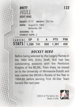 2013-14 In The Game Heroes and Prospects #123 Brett Hull Back