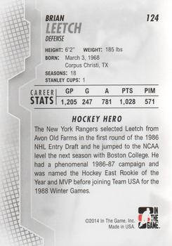 2013-14 In The Game Heroes and Prospects #124 Brian Leetch Back
