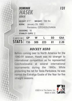 2013-14 In The Game Heroes and Prospects #131 Dominik Hasek Back
