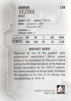 2013-14 In The Game Heroes and Prospects #134 Georges Vezina Back