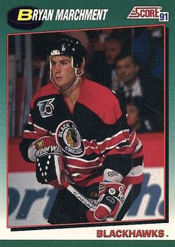 1991-92 Score Rookie and Traded #56T Bryan Marchment Front