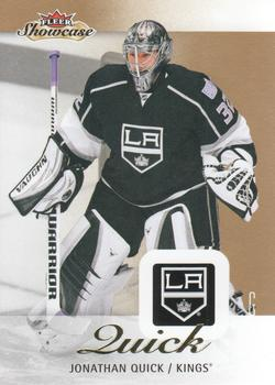 2013-14 Fleer Showcase #39 Jonathan Quick Front