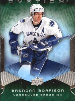 Brendan Morrison Hockey Card 2008-09 UD Ovation #198 Brendan Morrison