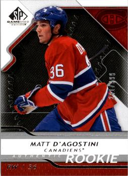 2008-09 SP Game Used #142 Matt D'Agostini Front