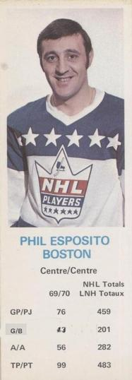 1970-71 Dad's Cookies #NNO Phil Esposito Front