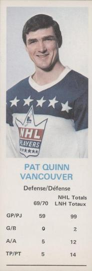 1970-71 Dad's Cookies #NNO Pat Quinn Front