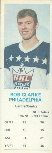 1970-71 Dad's Cookies #NNO Bobby Clarke Front