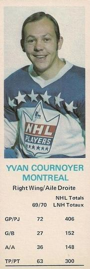1970-71 Dad's Cookies #NNO Yvan Cournoyer Front