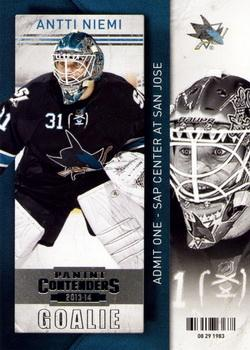 2013-14 Panini Contenders #11 Antti Niemi Front