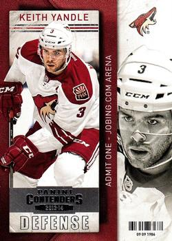 2013-14 Panini Contenders #20 Keith Yandle Front