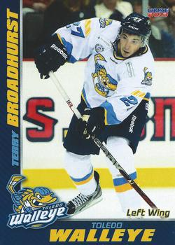 2012-13 Choice Toledo Walleye ECHL #18 Terry Broadhurst Front