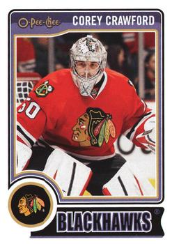 2014-15 O-Pee-Chee #408 Corey Crawford Front