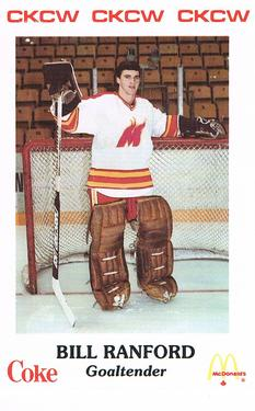 1986-87 Moncton Golden Flames AHL #NNO Bill Ranford Front