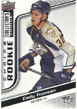 2009-10 Collector's Choice #269 Cody Franson Front