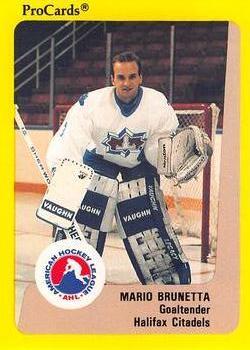 1989-90 ProCards AHL #159 Mario Brunetta Front
