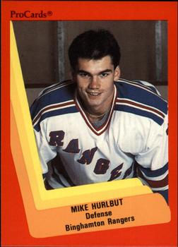 1990-91 ProCards #12 Mike Hurlbut Front