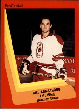 1990-91 ProCards #50 Bill Armstrong Front