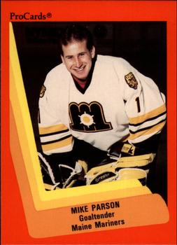 1990-91 ProCards #129 Mike Parson Front