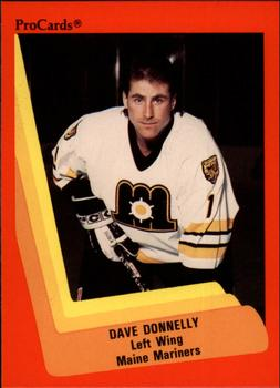 1990-91 ProCards #131 Dave Donnelly Front