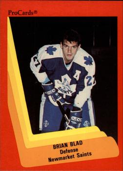1990-91 ProCards #164 Brian Blad Front