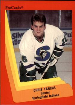 1990-91 ProCards #179 Chris Tancill Front