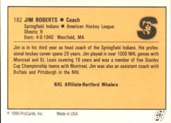 1990-91 ProCards #182 Jim Roberts Back