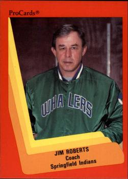 1990-91 ProCards #182 Jim Roberts Front