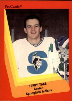 1990-91 ProCards #186 Terry Yake Front