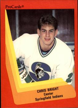 1990-91 ProCards #188 Chris Bright Front