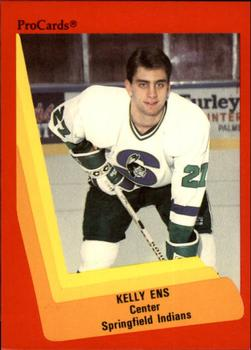 1990-91 ProCards #193 Kelly Ens Front