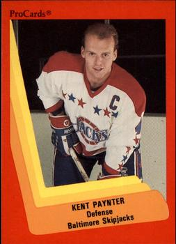 1990-91 ProCards #196 Kent Paynter Front