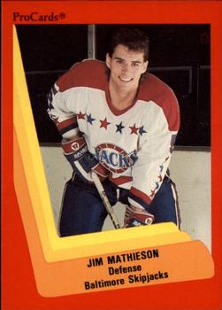 1990-91 ProCards #197 Jim Mathieson Front