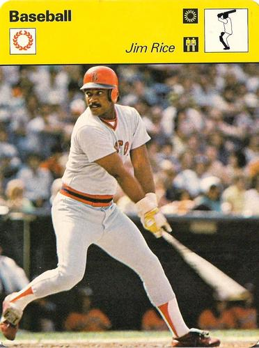 1977-79 Sportscaster Series 38 #38-10 Jim Rice Front