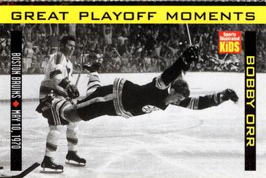 1998 Sports Illustrated for Kids - Great Playoff Moments #NNO Bobby Orr Front