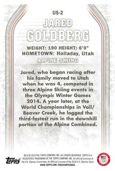 2018 Topps US Olympics & Paralympic Hopefuls #US-2 Jared Goldberg Back