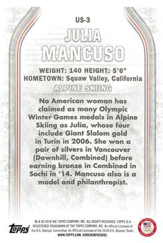 2018 Topps US Olympics & Paralympic Hopefuls #US-3 Julia Mancuso Back