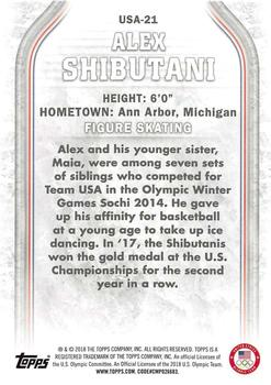 2018 Topps US Olympics & Paralympic Hopefuls #USA-21 Alex Shibutani Back