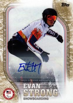 2018 Topps US Olympic & Paralympic Hopefuls - Autographs - Gold #USA-29 Evan Strong Front