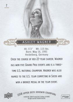 2018 Upper Deck Goodwin Champions #7 Ashley Wagner Back