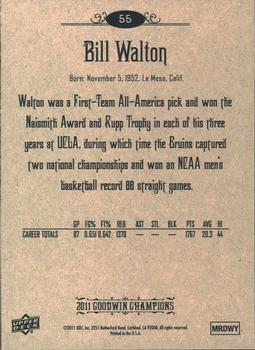 2011 Upper Deck Goodwin Champions #55 Bill Walton Back