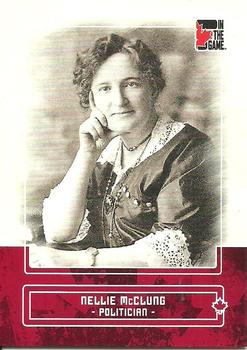 2011 In The Game Canadiana #67 Nellie McClung Front