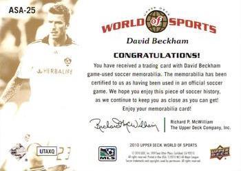 Sports Mem, Cards & Fan Shop Sports Trading Cards 2010 Upper Deck World of Sports Multi-Sport Card #61 David Beckham