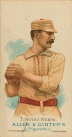 1887 Allen & Ginter World's Champions (N28) #NNO Timothy Keefe Front