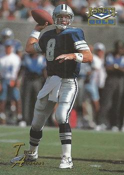 1995 Classic Assets Gold #28 Troy Aikman Front