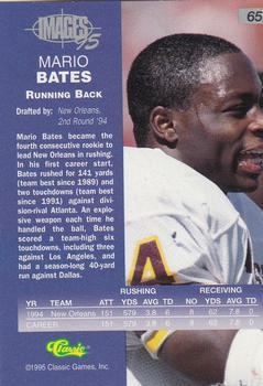 1995 Classic Images Four Sport #65 <b>Mario Bates</b> Back - 62586-65Bk
