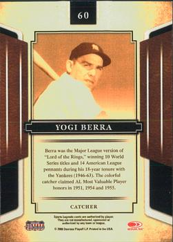 2008 Donruss Sports Legends #60 Yogi Berra Back