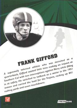 2009 Press Pass Fusion #43 Frank Gifford Back