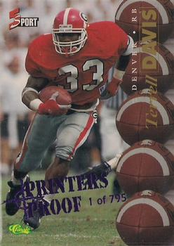 1995 Classic Five Sport - Printer's Proofs #91 Terrell Davis Front